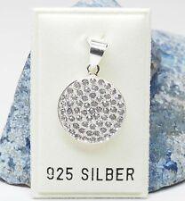 NEU 925 Silber ANHÄNGER mit STRASSSTEINE crystal/kristallklar KETTENANHÄNGER