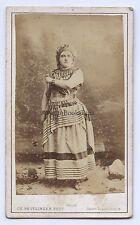 Marie Sasse soprano belge Belgique Opéra Cdv ReutlingerVintage ca 1870