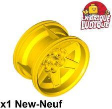 Lego - 1x roue jante tread 56mm D. x 34mm Racing Med jaune/yellow 15038 NEUF