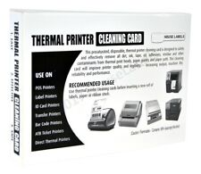 """25 DYMO Compatible 60622 CLEANING CARDS, 4"""" x 6"""" Works Great For DYMO 1744907"""