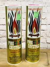 Vintage Color Flame Crystals Fireplace Canister Fire Color Rainbow Lot 2 Props