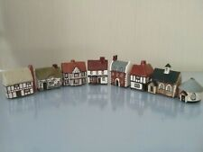More details for  mudlen end studio collection of miniature houses x 8