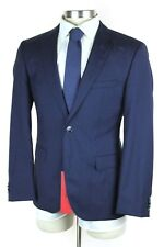NWT HUGO BOSS RED LABEL Jeys Shaft Blue Wool 2Btn Flat Front Suit 50 40S