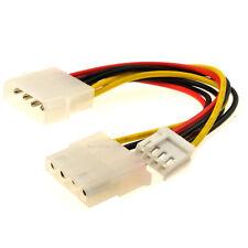 Power Splitter Cable 4 pin LP4 Molex to 4 pin Molex & 4 pin Floppy Plug