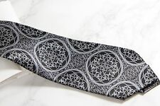 STEFANO RICCI TIE - GREY BLACK - NEW IN PLASTIC  - FREE BOXED SHIP