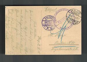 1915 Germany Navy Zeppelin Emden PK Real Picture Postcard Cover WW 1 Feldpost