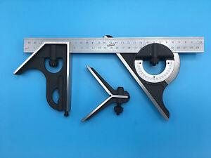 iGAGING Metric 30cm 4-Piece Combination Square Set (34-212-4M)
