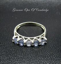 9ct White Gold Iolite Ring Size N