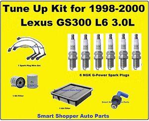 Tune Up Kit for 1998-2000 Lexus GS300 Spark Plug Wire Set, Oil Filter PCV Valve