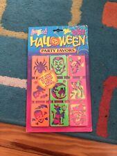 Vintage Lisa Frank Halloween Party Favors Stencils 1990s