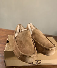 UGG ASCOT 5775 MEN'S  CHESTNUT SUEDE SLIPPERS * SIZE 9 100% AUTHENTIC BRAND NEW