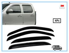 FOR 07-2013 CHEVY SILVERADO 1500 2500/3500 CREWCAB SMOKED WINDOW VISOR DEFLECTOR
