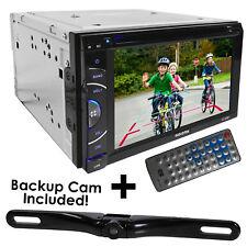 "Audiotek AT-63BTCAM 6.5"" DOUBLE DIN Bluetooth DVD +Waterproof Nightvision Camera"