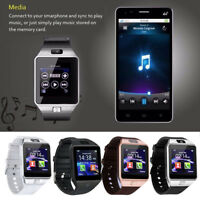 1X DZ09 Bluetooth Smart Waist Watch SIM TF Card Camera Fitness For Android Phone