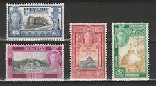 Ceylon Sri Lanka Mi  248-51 New Constitution 1948 MNH Postfris