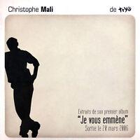"""Christophe Mali CD EP Extraits de Son Premier Album """"Je Vous Emmène"""" - Promo"""