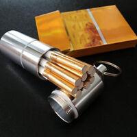 Metal Cigarette Case Aluminum Tobacco Storage Holder Pocket Box Container Cigar