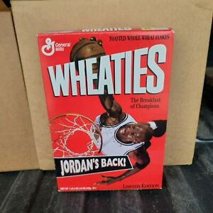 Wheaties Chicago Bulls Michael Jordan's Back Cereal Box. 18oz.