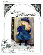 Sew Adorable Doll Clothes Pattern, fits American Girl, Victorian Bicycle Costume