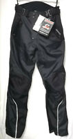 Waterproof Quality Armoured Black Motorcycle Textile Trousers Lining RRP: £119