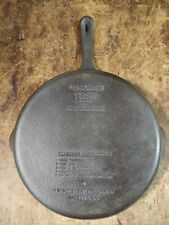 "VINTAGE WAGNER 1891 ORIGINAL 11-3/8"" CAST IRON FAT FREE FRYER SKILLET PAN FRYING"