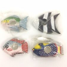 Wood Tropical Fish Napkin Ring Holders Set Of 4 Philippines Beach