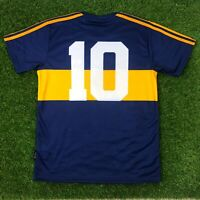 "Boca Juniors, Men's Retro Soccer Jersey. 1981, Maradona #10 ""Replica"""