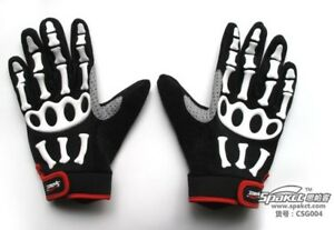SPAKCT Full Finger Cycling Bicycle Skiing Skeleton Bike Gloves
