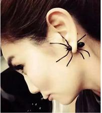 21 Piece Charm Fashion Black Stereoscopic Spider Charm Ear Stud Piercing Earring