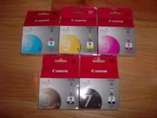 GENUINE SET 5 CANON PGI-9C/YMK INK TANK PIXMA iX7000 MX7600 FACTORY SEALED 7BK