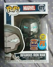 Funko Pop Marvel Infamous Iron Man 677 Glow In The Dark GITD RARE PIAB EXCLUSIVE