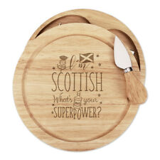 I'm Scottish What's Your Superpower Cheese Board Knife Set Scotland