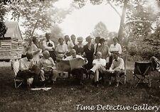 Henry Ford, Thomas Edison, Pres. Warren Harding, Harvey Firestone - c.1920 Photo