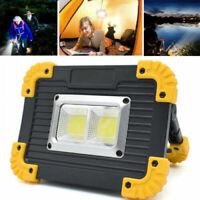USB COB LED Akku Fluter Strahler Camping Handlampe Arbeitsleuchte Baustrahler DE