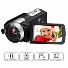 "Camera Camcorder 24MP HD 1080P 16X Digital Zoom 2.7"" LCD 270 Degree Rotation"