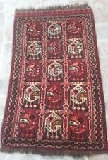 2 x 3'4 ft Old handmade vintage best persian qashqai antique small wool area rug