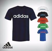 Mens Branded Adidas Linear Logo T Shirt Crew Neck Size S M  L XL XXL