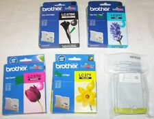 5 x Brother genuine LC37 cartridges black,cyan,magenta,2xyellow for MFC-260C++