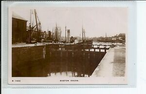 Real photo postcard of the Docks at Boston Lincolnshire in gc