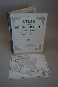 Atlas de géographie ancienne et moderne. par DRIOUX & LEROY. 33 cartes
