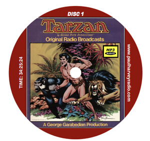TARZAN (240 SHOWS) OLD TIME RADIO MP3 2 CD'S