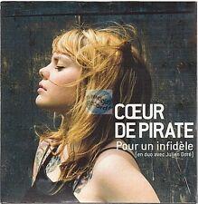 COEUR DE PIRATE pour un infidele CD SINGLE neuf BEATRICE MARTIN julien doré