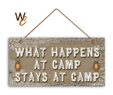 What Happens At Camp Stays At Camp Sign, Campground 5x10 Sign, Camping Sign