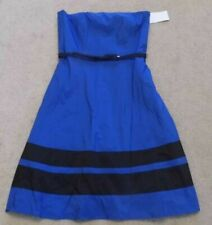 ROYAL BLUE STRAPLESS DRESS WITH BELT FROM VERA MONT - SIZE 8 - BNWT