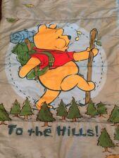 "Vintage Disney Winnie The Pooh Camping Sleeping Bag/Comforter 29""x60"" Pooh Bear"