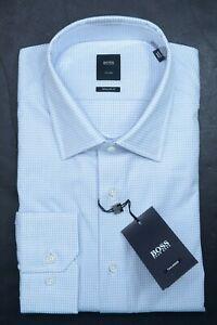 Hugo Boss Tailored $248 Men's Stuart Regular Fit Plaids Cotton Dress Shirt 43 17