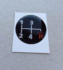 27 mm Classic Mini a cupola Pomello del cambio Leva Sticker AUSTIN MINI COOPER MORRIS ROVER