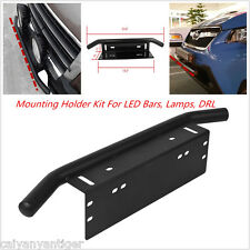 23'' Bull Bar Front Bumper License Plate Mount Bracket Holder Off-Road LED Light