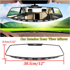 "Car Rear View Mirror Interior 12"" Wide Angle Curve Convex Large Screen Clip-On"