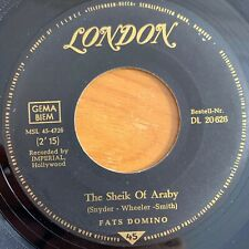 "Fats Domino - The Sheik Of Araby // 7"" - 1. German-Pressing 1963"